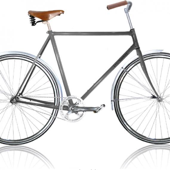 Herrecykel Classic Grå