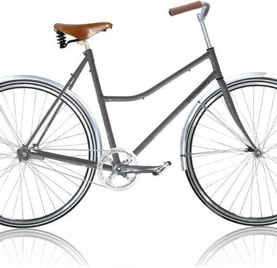 Damecykel classic grå